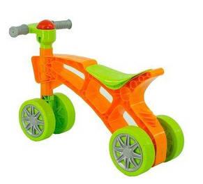 Детская каталка-ролоцикл 3824 с пищалкой на руле, фото 2