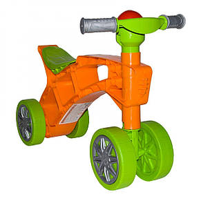 Детская каталка-ролоцикл 3824 с пищалкой на руле, фото 3