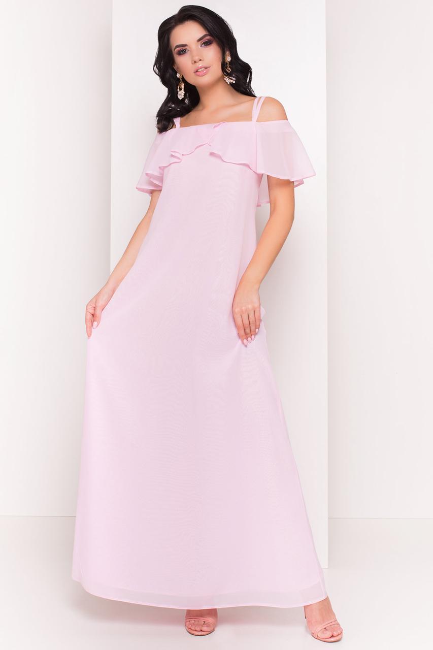 39a253afbb5a Шифонное женское платье в пол Пикабу