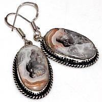 Серебряные серьги с кружевным агатом    от студии LadyStyle.Biz, фото 1