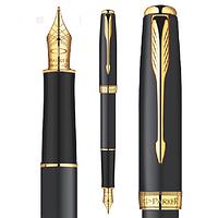 Перьевая ручка Parker Sonnet матовая чёрная с позолотой