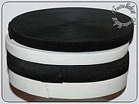 Резинка 2см черная и белая 40м (Китай)