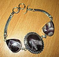 Элегантный браслет с контрастным аметистом  от Студии  www.LadyStyle.Biz, фото 1