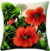Набор для вышивки подушки «Настурции»
