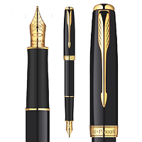 Перьевая ручка Parker Sonnet глянцевая чёрная с позолотой