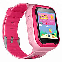 Детские водонепроницаемые телефон-часы с GPS трекером UWatch Q403 Android розовые