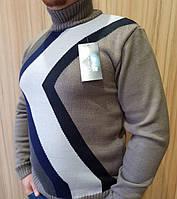 Мужской свитер теплый с горлом