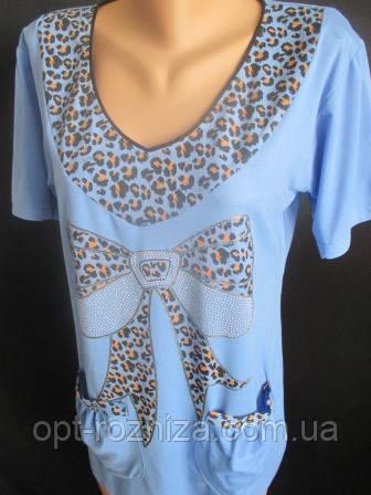 Женские  футболки с накладными карманами.