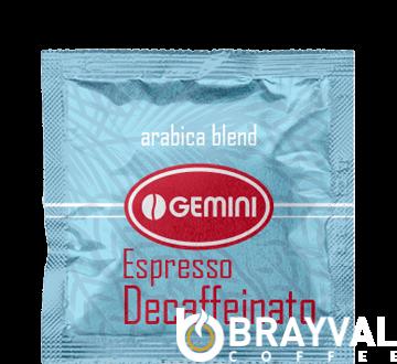 Кофе в монодозах Gemini Espresso Decaffeinato (без кофеина) 100 шт