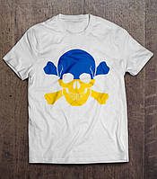 Футболка патриотическая   UA Skull  , фото 1