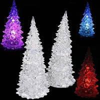 Новогодний LED светильник Елка 17см(белая)