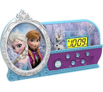 Часы настольные eKids, Disney,  Frozen, с ночником