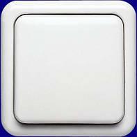 Выключатель одноклавишный крестовой белый серия Regina Polo Hager
