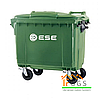 Контейнер для мусора пластиковый, 660 л зеленый