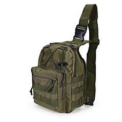 Рюкзак сумка тактическая военная Oxford 600D через плечо Green