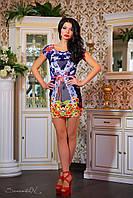 Женское летнее облегающее мини-платье, фото 1