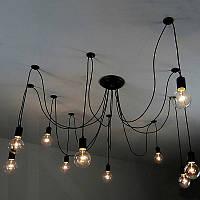 Люстра паук на 10 ламп (с лампой по центру), фото 1