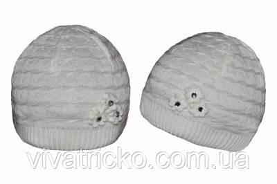 Весенняя шапка для девочек оптом м 8105, разные цвета