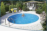 Круглый сборной бассейн серии MILANO размер 350х150см