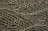 Ткань жаккардовая фактурная для штор Girasole коричневая