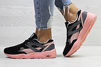 Женские кроссовки Puma Trinomic,розовые с черным 40