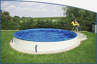 Круглый сборной бассейн серии MILANO размер 416х150см