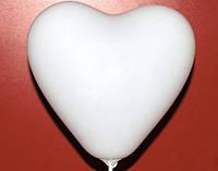 """Сердце 10"""" пастель 01 белый"""