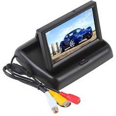 """Автомобильный раскладной монитор 5"""" дюймов SmartTech для камер заднего/переднего вида  2 видео входа"""