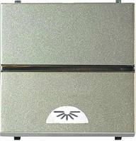 Кнопка 1-клавишная Освещение шампань ABB Zenit (N2204.2 CV)
