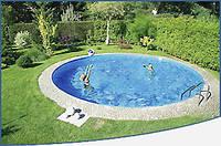 Круглый сборной бассейн серии MILANO размер 500х150см