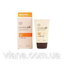 Матирующий солнцезащитный крем THE FACE SHOP Natural Sun Eco Super SPF50