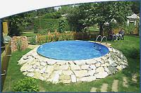 Круглый сборной бассейн серии MILANO размер 600х150см