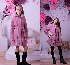 Детские пальто для девочек демисезонные модные