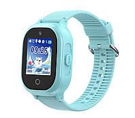 Детские водонепроницаемые телефон-часы с GPS трекером UWatch TD06S Синие