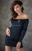 Мини-платье Roxie черное L, фото 1