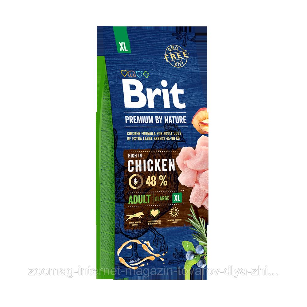 Сухий корм Brit Premium Senior L + XL 27/14 (з куркою для старіючих собак великих і гігантських порід) 3 кг