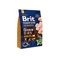 Сухой корм Brit Premium Senior S + M 25/13 (с курицей для стареющих собак мелких и средних пород) 3 кг