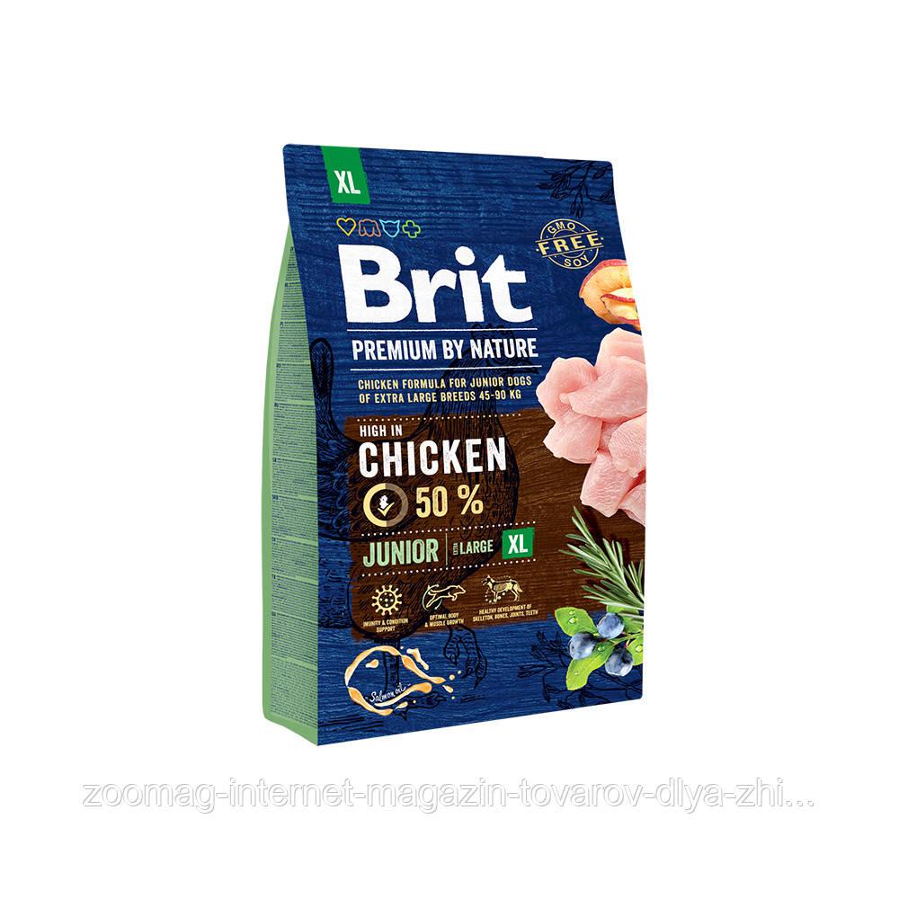 Сухой корм Brit Premium Junior XL 31/16 (для щенков и юниоров от 1 до 30 месяцев гигантских пород) 3 кг