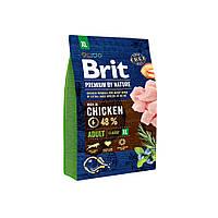 Сухой корм Brit Premium Adult XL 28/16 (с курицей для взрослых собак гигантских пород) 3 кг