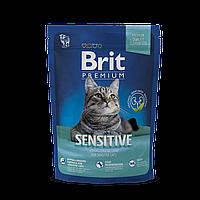 Сухой корм Brit Premium Cat Sensitive 35/15 (с ягненком для кошек c чувствительным пищеварением) 0.3 кг