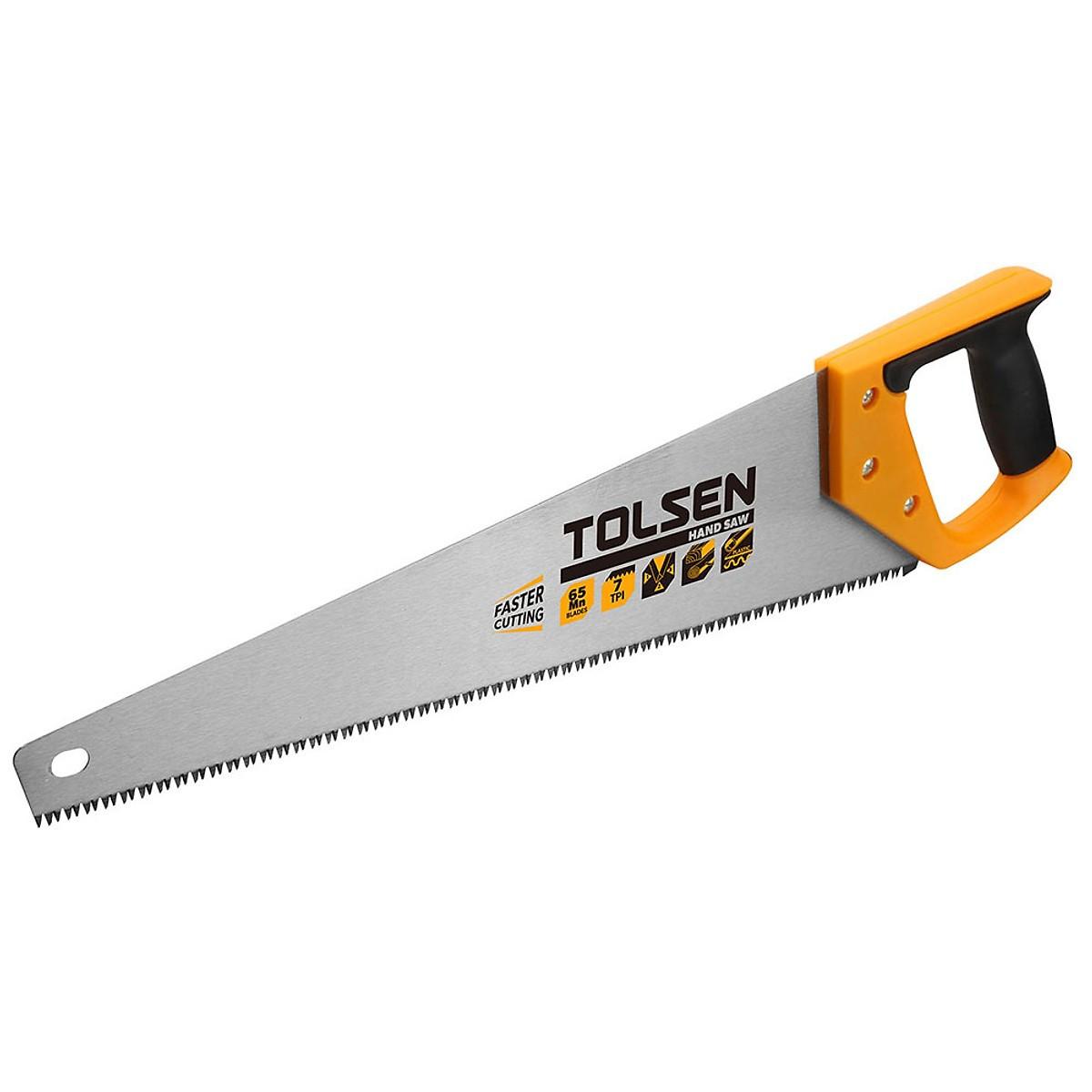 Ножовка по дереву Tolsen 550 мм 7TPI (31073)