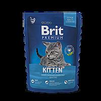 Сухой корм Brit Premium Cat Kitten 38/19 (с курицей для котят от 1 до 12 мес) 0.3 кг