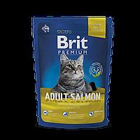 Сухой корм Brit Premium Cat Adult Salmon32/15 (с лососем для взрослых котов и кошек) 0.3 кг