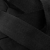 Лента ременная Ёлка 4см (100м) чёрная., фото 1
