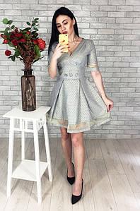 Платье женское голубое 2575