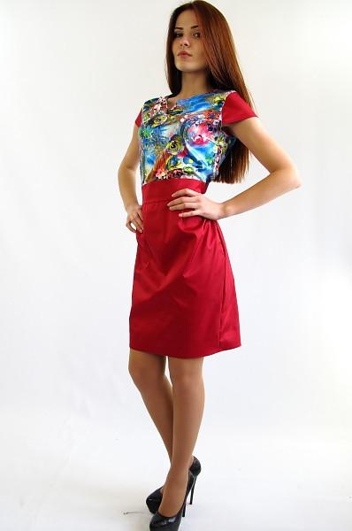 Яркое  молодежное платье. Платье Полина.