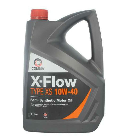 Полусинтетическое моторное масло Comma X-Flow XS 10w-40 4L
