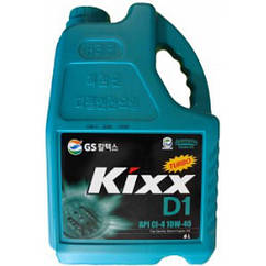 Напівсинтетичне моторне масло Kixx D1 10w-40 6 l
