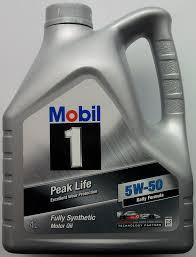 Синтетическое моторное масло Mobil Peak Life 5w-50