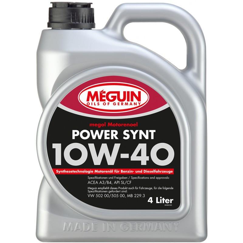 Полусинтетическое моторное масло MEGUIN Megol Motorenoel POWER SYNT 10W-40 4L